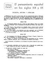 EI pensamiento español en los siglos XIX y XX