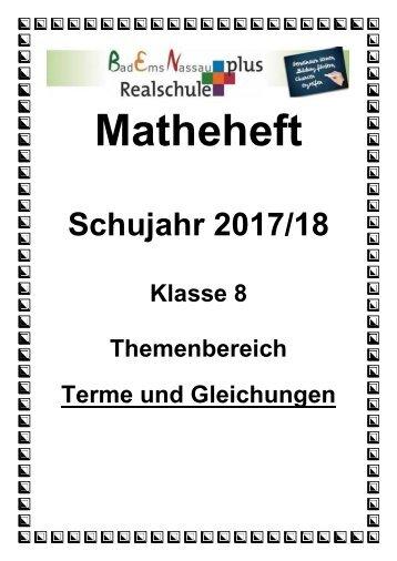 Matheheft Terme und Gleichungen