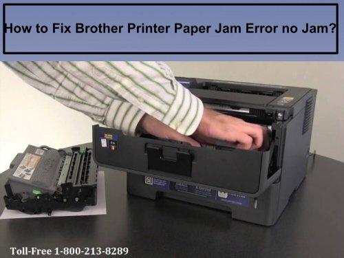 Fix Brother Printer Paper Jam Error no Jam by dialing