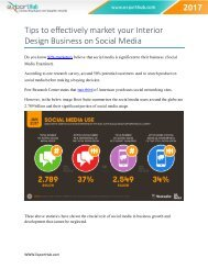 Tips to effectively market your Interior Design Business on Social Media