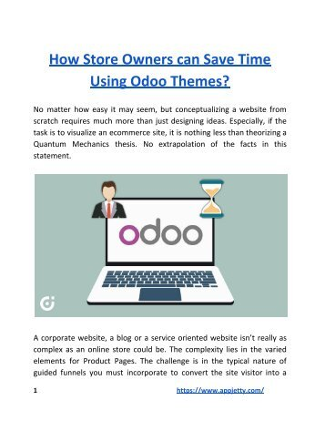 How Store Owners can Save Time Using Odoo Themes