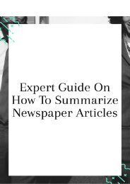 Expert Guide on How to Summarize Newspaper Articles