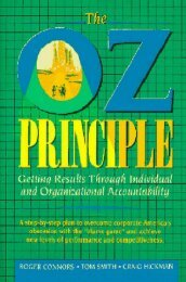 part 1 the oz principle: getting results through accountability