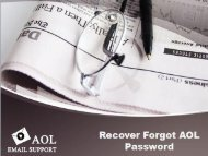 18002430019 Recover Forgot AOL Password