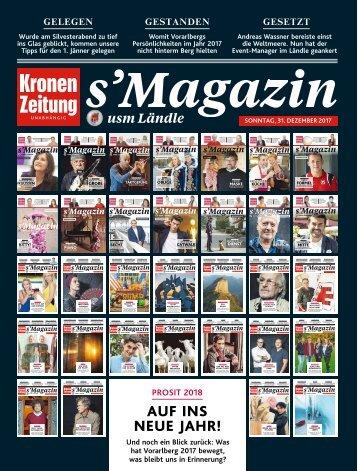 s'Magazin usm Ländle, 31. Dezember 2017