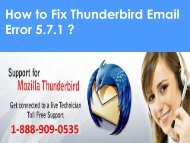 Thunderbird Email Error 5.7.1 1-888-909-0535 Support Number