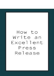 How to Write an Excellent Press Release