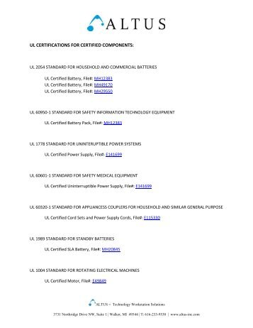 UL Certifications_Certified Components_hyperlinks