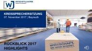 Wirtschaftsjunioren Oberfranken: Ein kleiner Jahresrückblick 2017