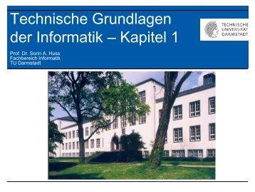 Technische Grundlagen der Informatik – Kapitel 1