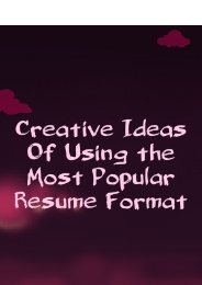 Creative Ideas of Using the Most Popular Resume Format
