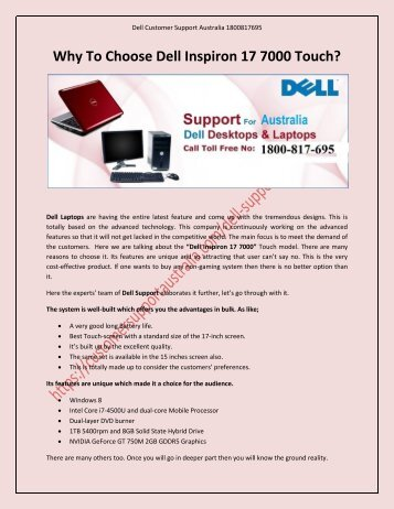 Why To Choose Dell Inspiron 17 7000 Touch?