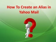 How to Create an Alias in Yahoo Mail?