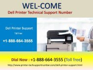 Dial at +1-888-664-3555 for Dell Printer tech support phone number