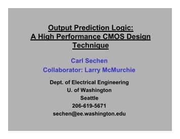 Output Prediction Logic: A High Performance CMOS Design ...