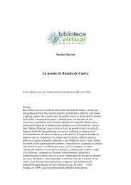 La poesía de Rosalía de Castro - Biblioteca Virtual Universal