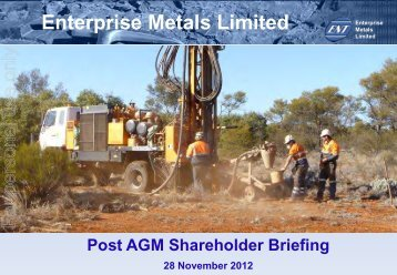 AGM Presentation - Enterprise Metals