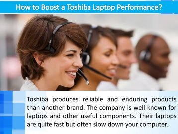 How to Boost a Toshiba Laptop Performance?