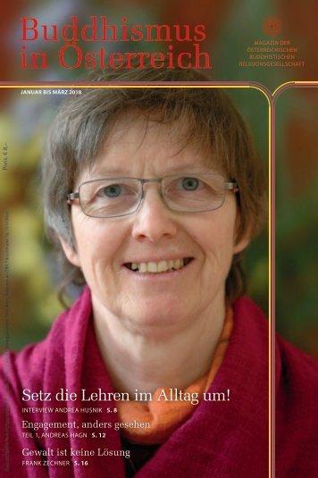 """ÖBR Magazin """"Buddhismus in Österreich"""", Jän-März 2018"""