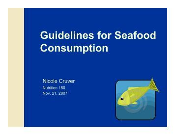 Seafood Choices - Connect Nutrition