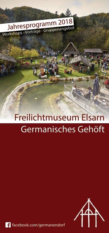 Workshops bei den Germanen - Jahresprogramm 2018