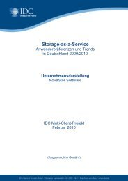 Storage-as-a-Service - IDC