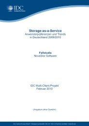 Storage-as-a-Service - IDC