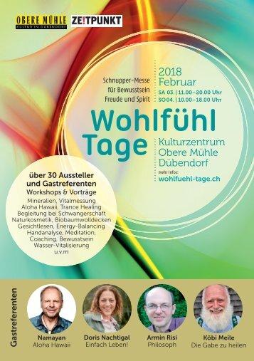 Programmheft Dübendorfer Wohlfühl-Tage 2018