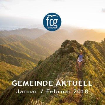 GEMEINDE AKTUELL - Januar/Februar 2018