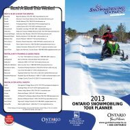 ONTARIO SNOWMOBILING TOUR PLANNER Rent A Sled This ...