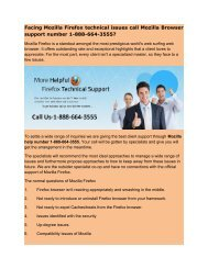 Facing Mozilla Firefox technical issues call Mozilla Browser support number 1-888-664-3555