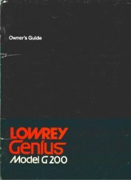 "Page 1 Page 2 Owner's Guide LOWRET GEI'IIUS"""" /I/IOCIEI G 200 E-Z ..."