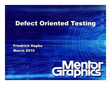 Defect Oriented Testing