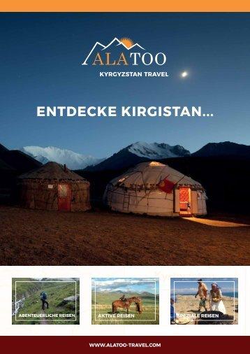 Ala Too Travel Prospekt - Entdecke Kirgistan