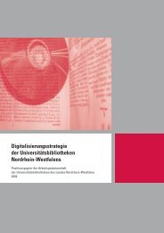 Digitalisierungsstrategie der Universitätsbibliotheken Nordrhein ...