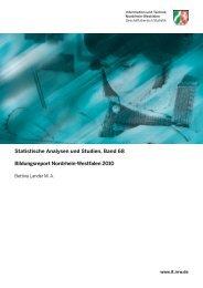 Bildungsreport Nordrhein-Westfalen 2010 - Publikationsservice von ...