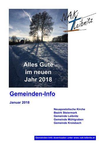 Gemeindeinfo Januar 2018