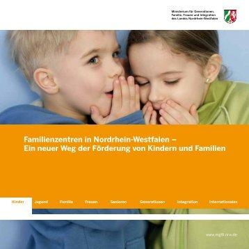Familienzentren in Nordrhein-Westfalen – Ein neuer Weg der ...