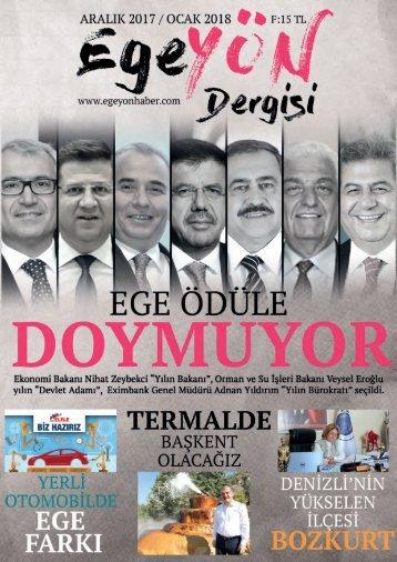 EgeYön Dergisi Ocak Sayısı