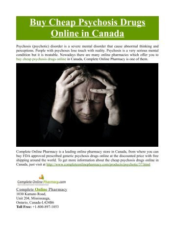 Buy Cheap Psychosis Drugs Online in Canada