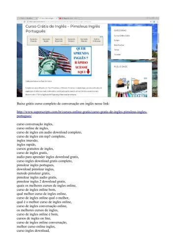 Inglês online grátis - Pimsleur inglês download