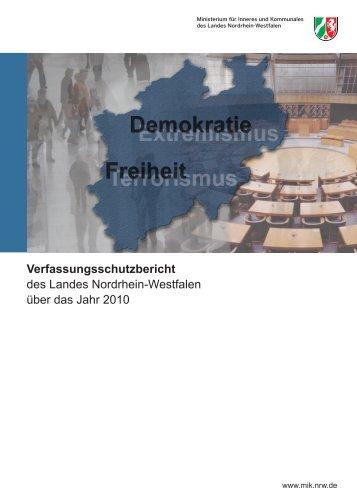 Verfassungsschutzbericht des Landes Nordrhein ... - MIK NRW