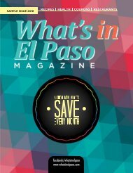 WHATS IN EL PASO SAMPLE ISSUE 1