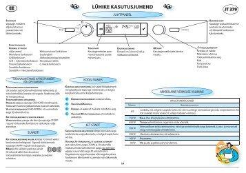 KitchenAid JT 379 IX - JT 379 IX ET (858737984790) Scheda programmi