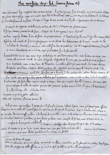 Le manifeste du μ-laboratoire de Clément