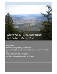 White Valley Parks, Recreation and Culture Master Plan - Lumby