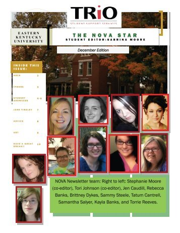THE NOVA STAR - NOVA - Eastern Kentucky University