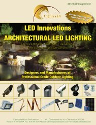LED Innovations ARCHITECTURAL LED LIGHTING LED ... - Lightcraft