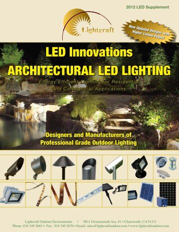LED Innovations ARCHITECTURAL LED LIGHTING LED ... - Lightcraft