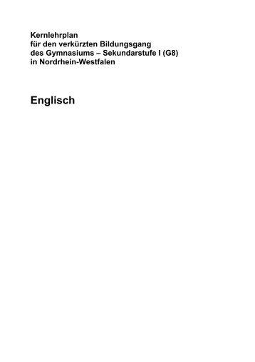 Kernlehrplan Englisch (G8) - Standardsicherung NRW